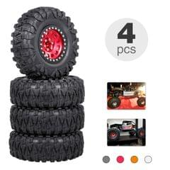 4PCS 2.2IN Crawler RC Tires with Metal Rim Ultra Soft Rock