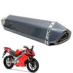 38-51mm 47cm Stainless Steel Universal Motorcycle Exhaust - 5