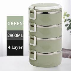 304 Stainless Steel Lunch Box Round Bowl 700ml X4 Thermal - 4