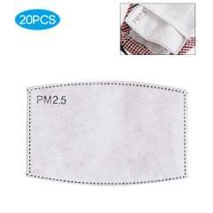 20PCS Face Cover Filter PM2.5 Activated Carbon Replaceable - 20PCS