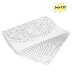20pcs/set Wedding Invitation Card Cover Pearl Paper Laser - 20