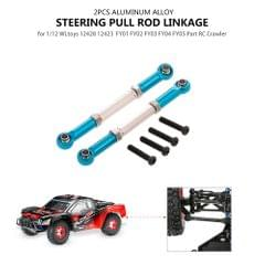 Steering Pull Rod Linkage Aluminum Alloy for 1/12 RC Crawler
