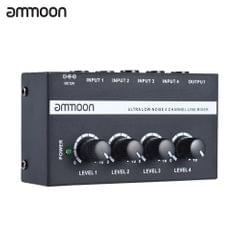 ammoon MX400 Ultra-compact Low Noise 4 Channels Line Mono - US Plug