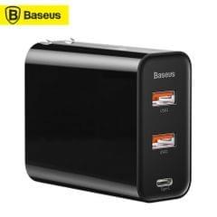 Baseus PPS Three Output Quick Charger 60W Type-C+USB+USB - US Plug
