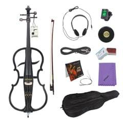 ammoon 4/4 Solid Wood Electric Cello Violoncello Ebony