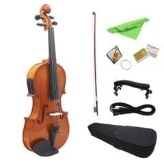 4/4 Full Size Natural Acoustic EQ Violin Fiddle Solid Wood