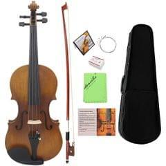 4/4 Full Size Violin Fiddle Matte Finish Northeast Pine Face