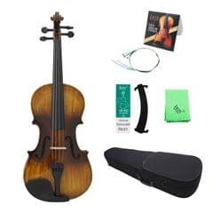 4/4 Vintage Glossy Acoustic Violin Basswood Panel Mapel with