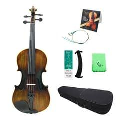 4/4 Vintage Matte Acoustic Violin Basswood Panel Mapel with