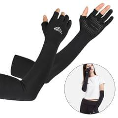 Cooling Arm Sleeves with Ergonomic Fingers Men Women UV Sun - M