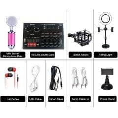 R8 Live Sound Card + Milk Bottle Microphone Pink + Earphones - 6