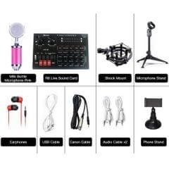 R8 Live Sound Card + Milk Bottle Microphone Pink + Shock - 3