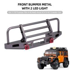 Front Bumper Metal with 2 LED Light for 1/10 Traxxas TRX-4