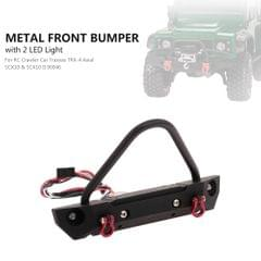 Front Bumper Metal with 2 LED Light for RC Crawler Car
