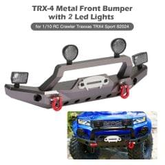 TRX-4 Metal Front Bumper with 2 Led Lights for 1/10 RC