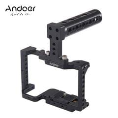 Andoer Camera Cage + Top Handle Kit  Aluminum Alloy with - Camera Cage & Top Handle