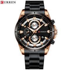 Curren Men Watch Business Multifuntional Waterproof Watches - Rose black