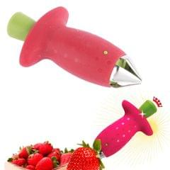 Strawberry Huller Stem Remover Tomatoes Leaves Fruit Corer Kitchen (Red)