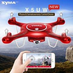 SYMA X5UW 360 Degree Flip 4-Channel 2.4GHz WiFi Camera HD 720P Real-time FPV Radio Control Quadcopter with 0.3MP Camera & 6-axis Gyro & LED Light & Remote Controller (Red)