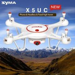 SYMA X5UC 360 Degree Flip 4-Channel 2.4GHz HD 720P Radio Control Quadcopter with 1MP Camera & 6-axis Gyro & LED Light & Remote Controller (White)