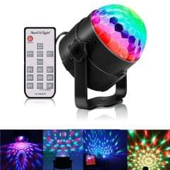 youOKLight YK2278 3W Sound Activated RGB LED Stage Light, Disco DJ Lights Strobe Rotating Projector Light Crystal Magic Ball Party Lights with Remote Control, US/EU Plug, AC 85-265V