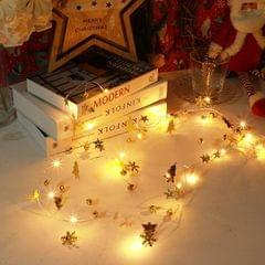 2m 20LEDs Christmas String Lights Christmas Bells Ball Decoration Lamp, Style:  Christmas Tree Bell