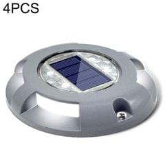 4 PCS LED Solar Powered Embedded Ground Lamp IP68 Waterproof Outdoor Garden Lawn Lamp (Grey)