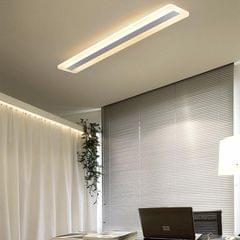 Rectangular Simple Modern Atmosphere Creative Hall Study LED Ceiling Lamp, Size: 60x9cm (Warm White)