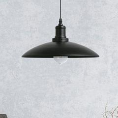 YWXLight LED Retro Industrial Hanging Lamp Creative Pot Lid Iron Art Pendant Light With E27 Bulb Perfect for Kitchen Dining Room Bedroom Living Room, Size: + Warm White (Black)