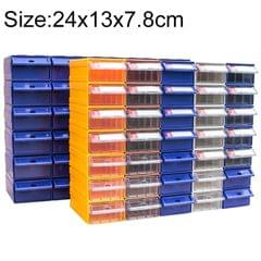 Thickened Combined Plastic Parts Cabinet Drawer Type Component Box Building Block Material Box Hardware Box, Random Color Delivery, Size: 24cm x 13cm x 7.8cm