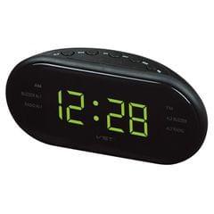 Oval Radio LED Digital Alarm Clock (Yellow)