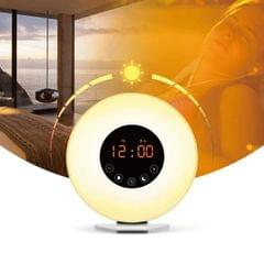 Multi-function Led Touch Intelligent Wake-up Light Alarm Clock with FM Radio
