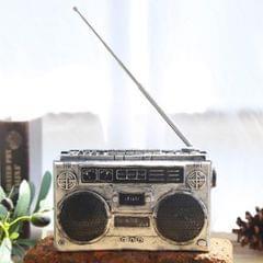 Vintage Radio TV Set Home Decoration Retro Craft Decoration, Style:Radio Silver