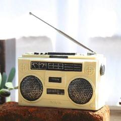 Vintage Radio TV Set Home Decoration Retro Craft Decoration, Style:Radio Beige