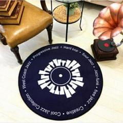 Creative Retro 3D DVR Record Carpet Round CD Floor Mat Home Decor Living Room Kid Bedroom Decoration  Rug, Diameter 160cm (Black+White)