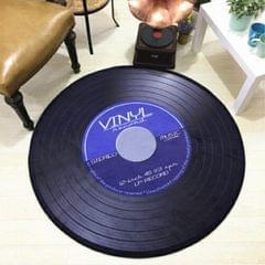 Creative Retro 3D DVR Record Carpet Round CD Floor Mat Home Decor Living Room Kid Bedroom Decoration  Rug, Diameter 160cm (Blue)