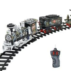 Electric Dynamic Steam RC Track Train Set Simulation Model Toy for Children Rechargeable Children Remote Control Toy Set (333-74)