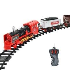 Electric Dynamic Steam RC Track Train Set Simulation Model Toy for Children Rechargeable Children Remote Control Toy Set (333-71)