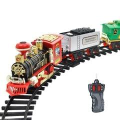 Electric Dynamic Steam RC Track Train Set Simulation Model Toy for Children Rechargeable Children Remote Control Toy Set (333-72)