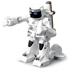 777-615 Battle RC Robot 2.4G Body Sense Remote Control Toys For Kids Gift Toy Model Mini Smart Robot Battle Toys For Boys (White)