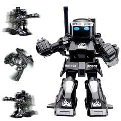 777-615 Battle RC Robot 2.4G Body Sense Remote Control Toys For Kids Gift Toy Model Mini Smart Robot Battle Toys For Boys (Black)