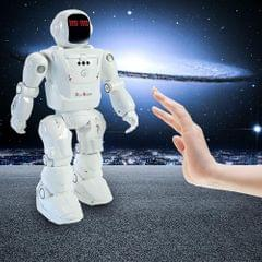 Dacing Mode RC Robot Motion Control Programmable Actions Facial Light Sounds Toys Smart Robot (White)