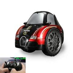 Remote Control Car Children 360 Degree Rotating Drift Dump Electric Two-wheeled Stunt Car Model Racing Toy, Proportion: Rechargeable Version (Buga Red)