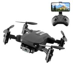 LS-MIN 4K Pixels Foldable RC Quadcopter Drone Remote Control Aircraft, Storage Bag Packaging (Black)