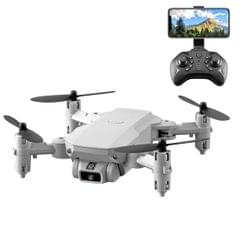 LS-MIN 4K Pixels Foldable RC Quadcopter Drone Remote Control Aircraft, Storage Bag Packaging (Grey White)