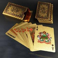 Creative Frosted Golden Tattice Back Texture Plastic From Vegas to Macau Playing Cards Texas Poker Novelty Collection Gift (Style12)