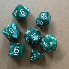 5 Set Creative RPG Game Dice Colorful Multicolor Dice Mixed DND Dice (Green)