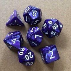 5 Set Creative RPG Game Dice Colorful Multicolor Dice Mixed DND Dice (Purple)