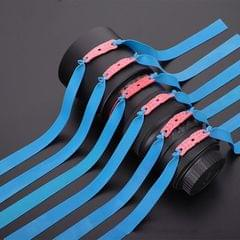 10 PCS Long Pull Model Prey Flat Rubber Band Special Saspi Slingshot Accessories, Color:Thickness 0.8mm Blue