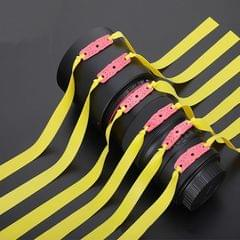 10 PCS Long Pull Model Prey Flat Rubber Band Special Saspi Slingshot Accessories, Color:Thickness 0.55mm Yellow